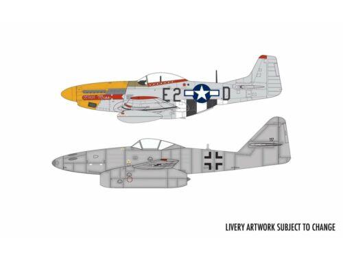 Airfix Messerschmitt Me262   P-51D Mustang Dogfight Double 1:72 (A50183)