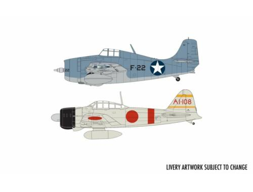 Airfix Grumman F-4F4 Wildcat   Mitsubishi Zero Dogfight Double 1:72 (A50184)