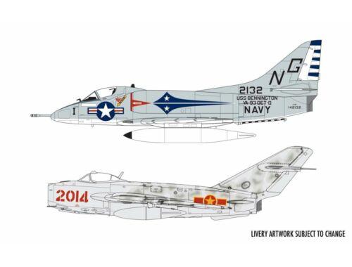 Airfix Mig 17F Fresco Douglas A-4B Skyhawk Dogfight Double 1:72 (A50185)