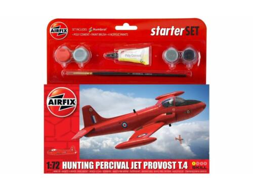 Airfix Small Starter Set Hunting Percival Jet Provost T.4 1:72 (A55116A)