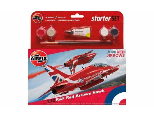Airfix Medium Starter Set RAF Red Arrows Hawk 1:72 (A55202C)