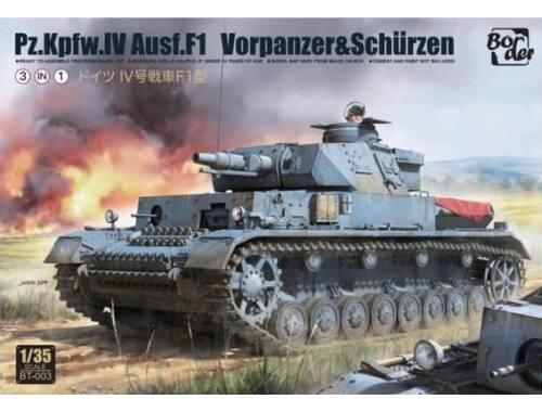 Border Model Pz.Kpfw.IV Ausf.F1 3-in-1 1:35 (BT003)
