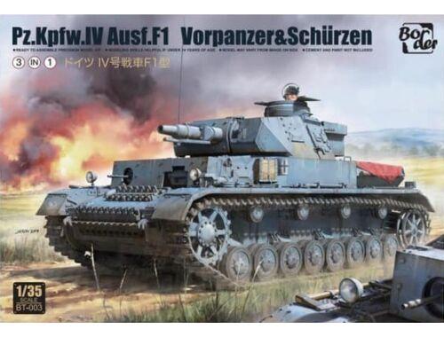 Border Model Pz.Kpfw.IV Ausf.F1 3-in-1 1:35 (BT003)