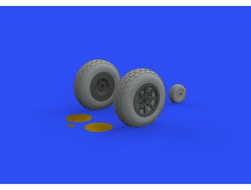 Eduard P-40N wheels for Trumpeter 1:32 (632143)