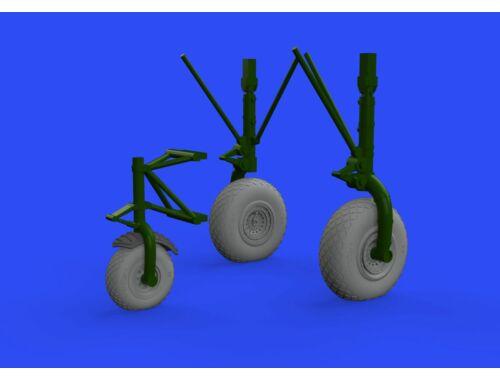 Eduard B-24 wheels (8spoke front wheel) for Hobby Boss 1:32 (632145)