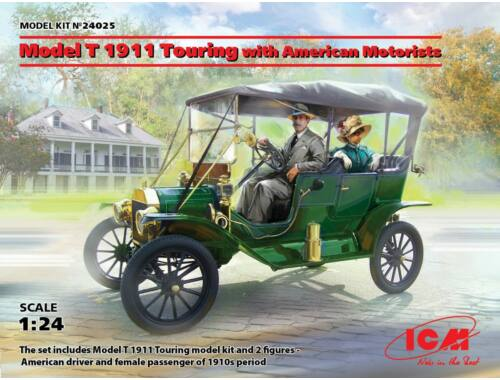 ICM Model T 1911 Touring with American Motorists 1:24 (24025)