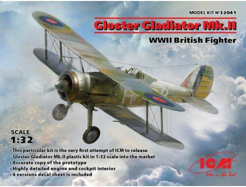 ICM Gloster Gladiator Mk.II, WWII British Fighter Russischer Schwerer Bomber 1. Weltkrieg 1:32 (3204