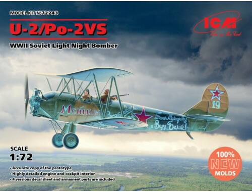 ICM U-2/Po-2VS, WWII Soviet Light Night Bomber 1:72 (72243)