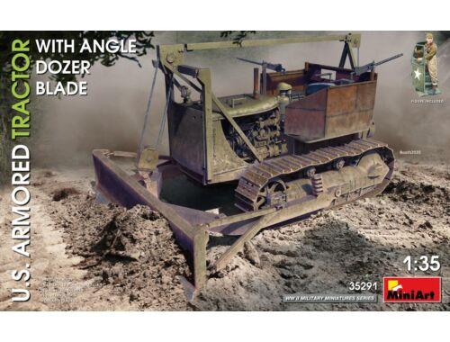 MiniArt U.S. Armored Tractor w/Angle Dozer Blade 1:35 (35291)