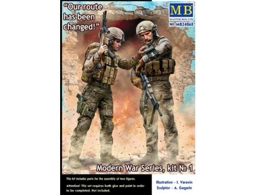 Master Box Our route has been changed! Modern War Series, kit No.1 1:24 (24068)