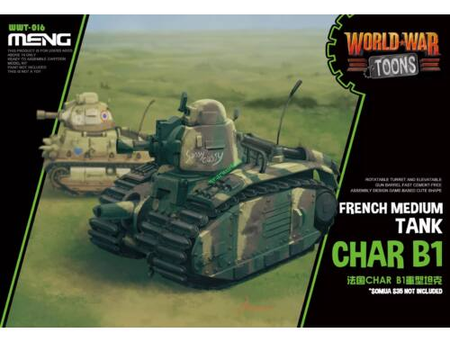 MENG French Heavy Tank Char B1 (Cartoon Model) (WWT-016)