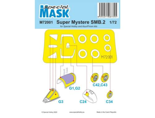 Special Hobby SMB-2 Super Mystere Mask 1:72 (M72001)