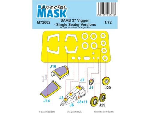 Special Hobby SAAB 37 Viggen Single Seater Mask 1:72 (M72002)