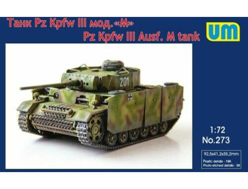Unimodels Pz.Kpfw III Ausf.M tank 1:72 (273)