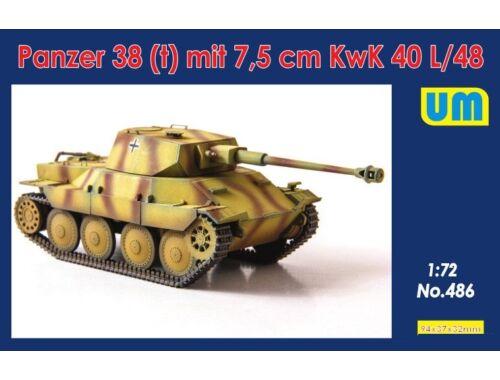 Unimodels Panzer 38(t) mit 7.5cm KwK 40L/48 1:72 (486)