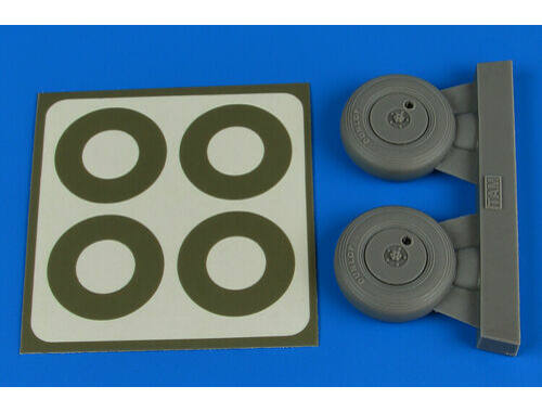 Aires Spitfire Mk.IX wheels (covered)   paint masks for Tamiya 1:32 (2237)