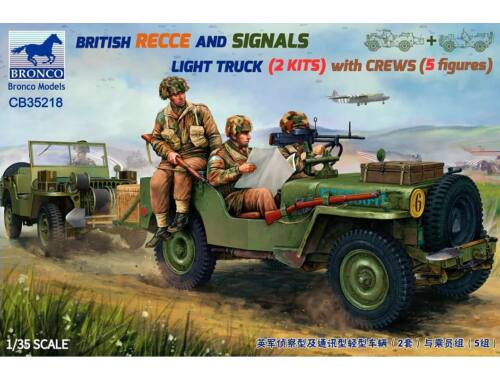 Bronco British Recce and SIgnal Light Truck (2in1) with Crews 1:35 (CB35218)