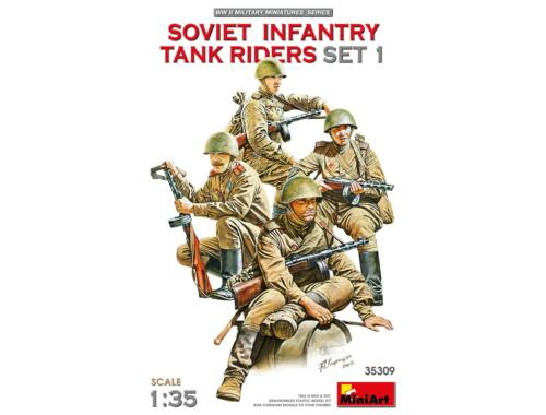 MiniArt Soviet infantry tank riders - set 1 - 1:35 (35309)