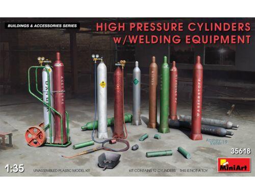 MiniArt High Pressure Cylinders w/Welding Equipment 1:35 (35618)