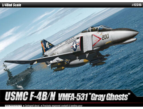 "Academy USMC F-4B/N VMFA-531 ""GRAY GHOSTS"" 1:48 (12315)"