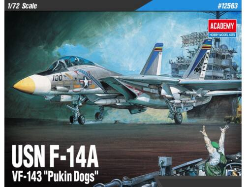 "Academy USN F-14A ""VF-143 Pukin Dogs"" 1:72 (12563)"