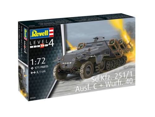 Revell Sd.Kfz. 251/1 Ausf. C   Wurfr. 40 1:72 (3324)