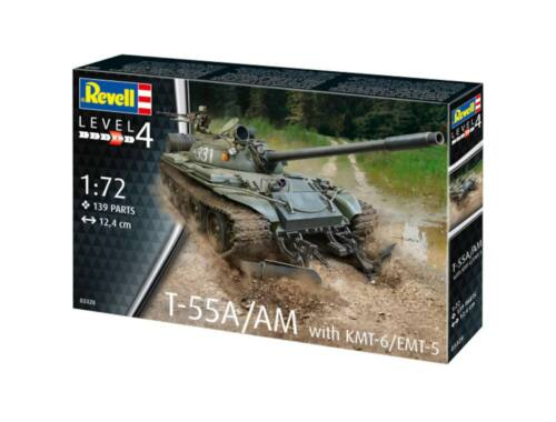Revell T-55A/AM with KMT-6/EMT-5 1:72 (3328)