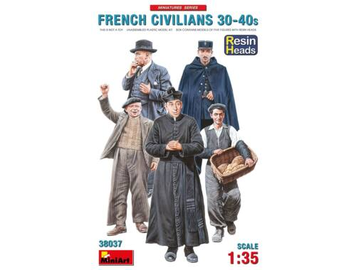 MiniArt French Civilians '30-'40s. Resin Heads 1:35 (38037)