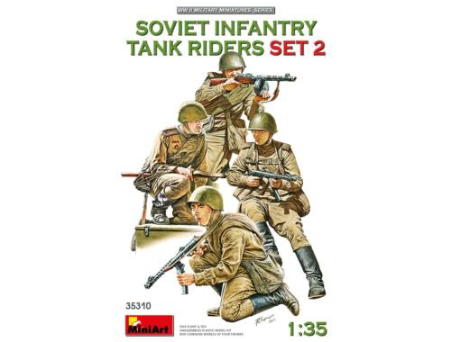 MiniArt Soviet infantry tank riders - set 2 - 1:35 (35310)