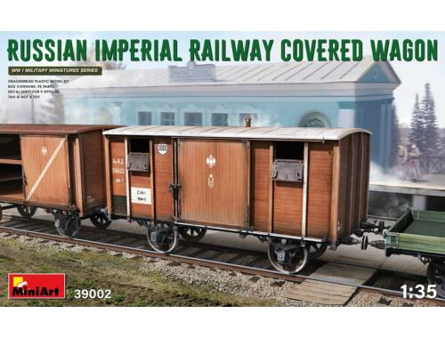 MiniArt Russian Imperial Railway Covered Wagon 1:35 (39002)