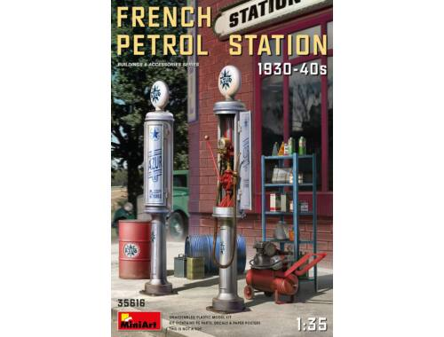 MiniArt French Petrol Station 1930-40S 1:35 (35616)