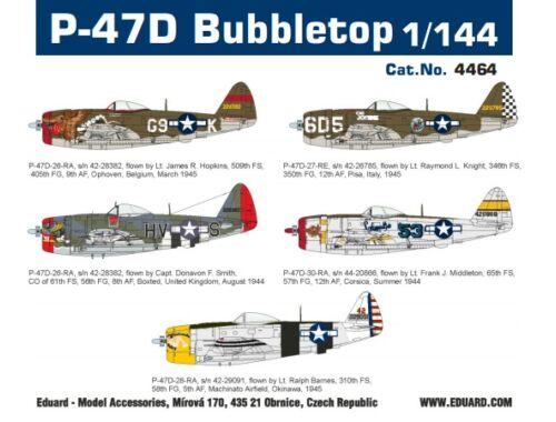 Eduard P-47D Bubbletop, Super44 1:144 (4464)