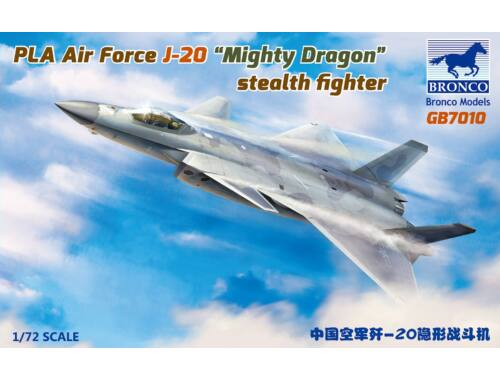 Bronco Models PLA J-20 Mighty Dragon stealth fighter 1:72 (GB7010)
