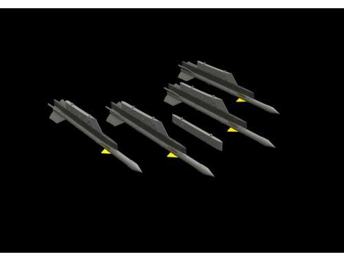 Eduard R-3R missiles w/ pylons for MiG-21 for Eduard 1:72 (672240)