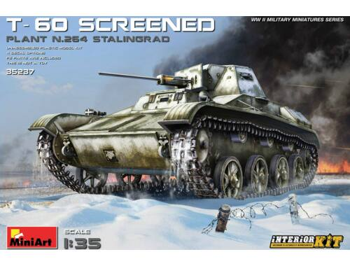 MiniArt T-60 Screened (Plant 264,Stalingrad) Interior Kit 1:35 (35237)