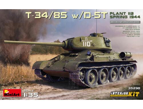 MiniArt T-34/85 w/D-5T. Plant 112. Spring 1944. INTERIOR KIT 1:35 (35290)