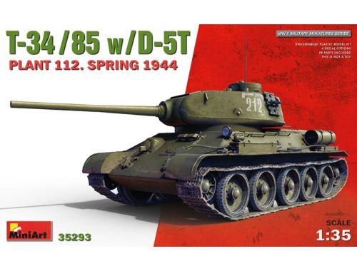 MiniArt T-34/85 w/D-5T. Plant 112. Spring 1944 1:35 (35293)