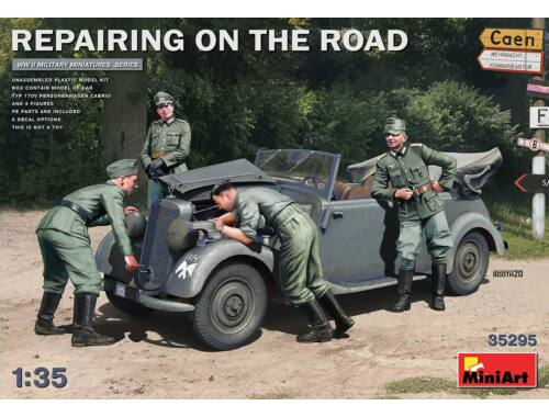 MiniArt Repairing on the Road (Typ 170V Cabrio   4 Figures) 1:35 (35295)