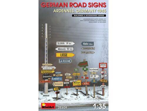 MiniArt German Road Signs WW2 (Ardennes, Germany 1945) 1:35 (35609)