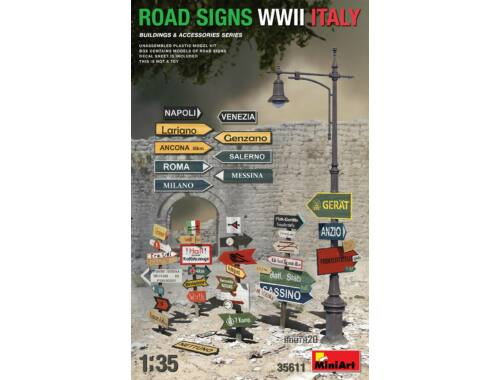 MiniArt Road Signs WWII Italy 1:35 (35611)
