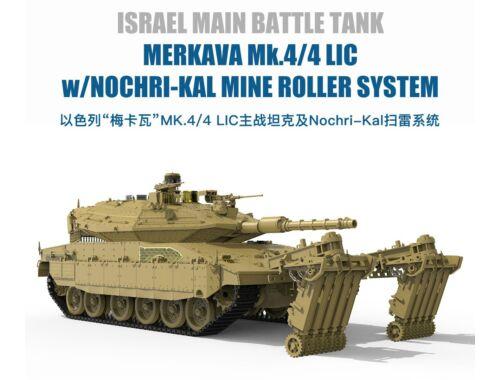 Meng Israel MBT Merkava Mk.4/4LIC w/Nochri-Kal Mine Roller System 1:35 (TS-049)