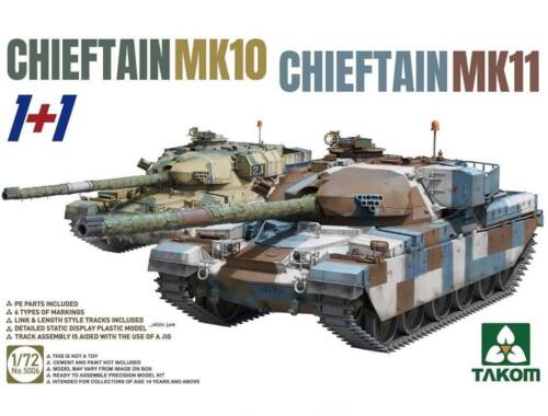 Takom CHIEFTAIN MK11 CHIEFTAIN MK10 (2in1) 1:72 (5006)