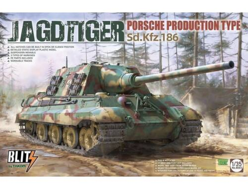 Takom JAGDTIGER PORSCHE PRODUCTION TYPE Sd.Kfz.186 1:35 (8003)