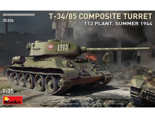 MiniArt T-34/85 Composite Turret 112 Plant. Summer 1944 1:35 (35306)