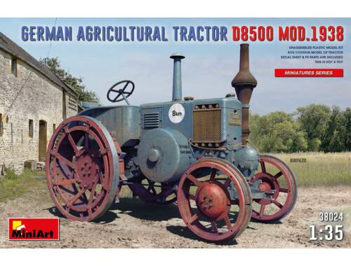 MiniArt German Agricultural Tractor D8500 Mod. 1938 1:35 (38024)
