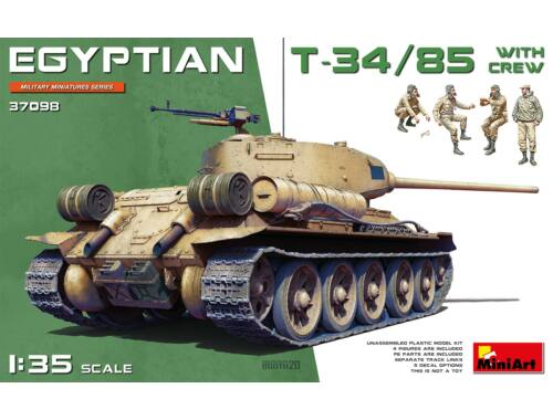MiniArt Egyptian T-34/85 w/crew 1:35 (37098)