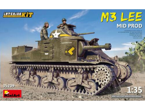 MiniArt M3 Lee Mid Prod. Interior Kit 1:35 (35209)