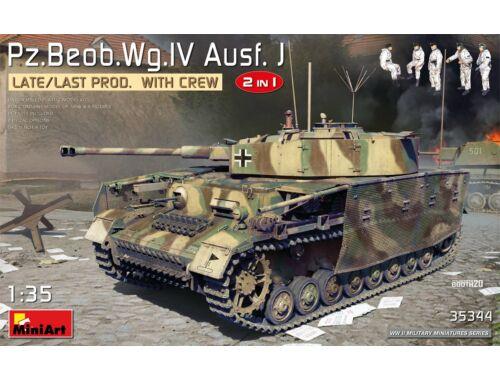 MiniArt Pz.Beob.Wg.IV Ausf. J Late/Last Prod. 2 in 1 w/Crew 1:35 (35344)