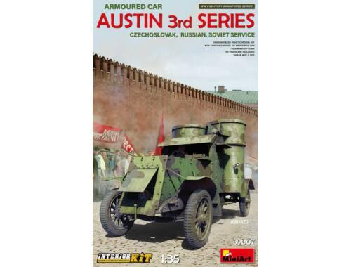 MiniArt Austin Armoured Car 3rd Series:Czechoslovak,Russian,Soviet Interior Kit 1:35 (39007)