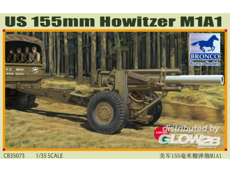 Bronco US M1A1 155mm Howitzer (WWII) 1:35 (CB35073)